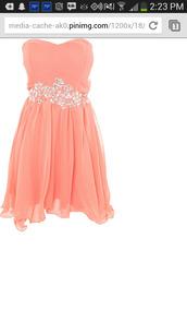 dress,homecoming dress,coral dress
