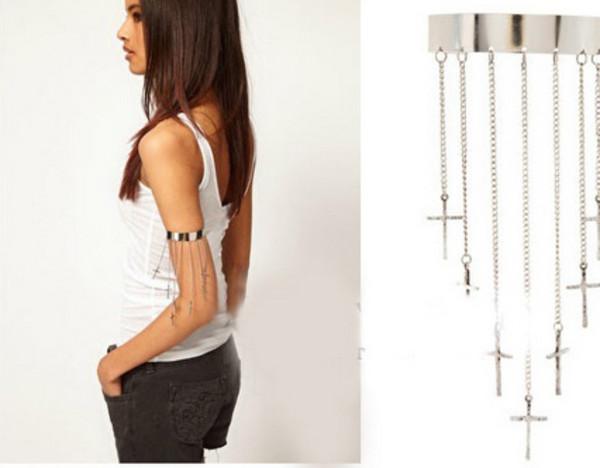 jewels jewelry fashion white shorts black silver cross cross earring tassel beauty fashion shopping