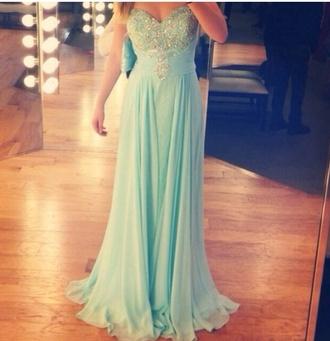 dress prom dress 2014 prom dresses love more loveit gorgeous mint dress mint nice inlove inlovewithit pretty sparkly dress glitter dress sogood