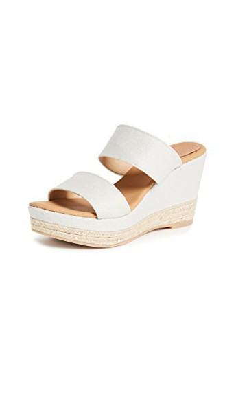 Matt Bernson wedges white shoes