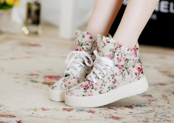 shoes kawaii shoes floral