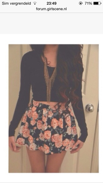 shirt skirt flower skirt vintage dress tumblr girl tumblr girly outfits tumblr girly roses