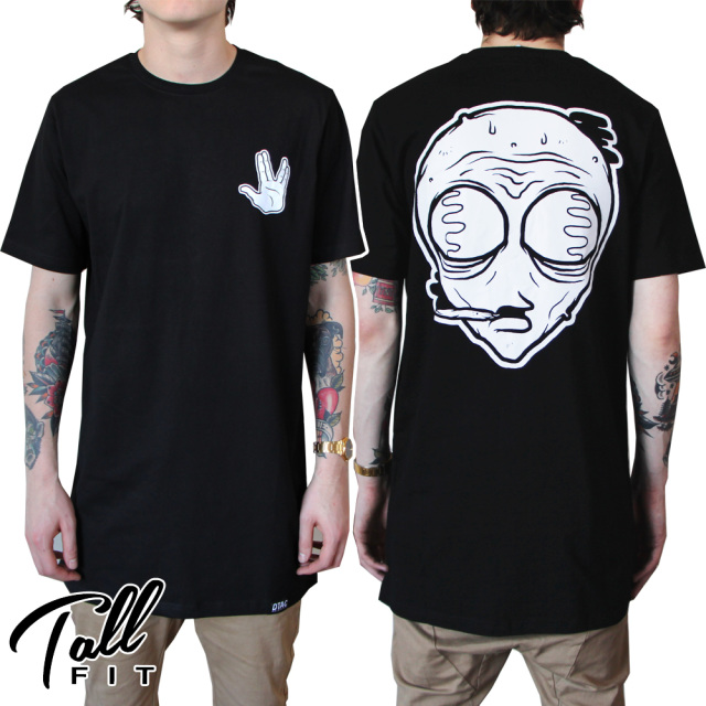 Alien tall tee (black)