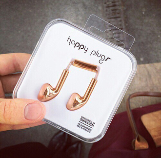 earphones music gold cool original ear plug plug copper home accessory happy plugs marble headphones technology