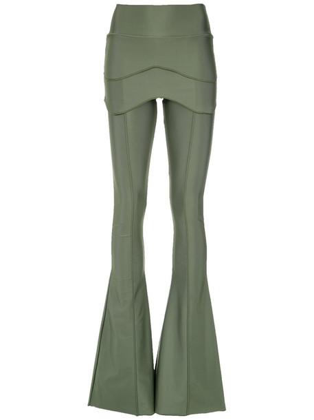 women spandex green pants