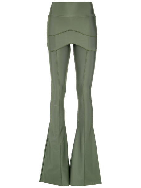 Andrea Bogosian women spandex green pants