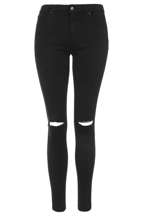 6dfda368ab MOTO Black Ripped Leigh Jeans