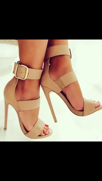 beige shoes high heels sandals classy