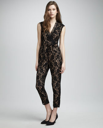 Alice by Temperley Kitty Lace Jumpsuit - Neiman Marcus