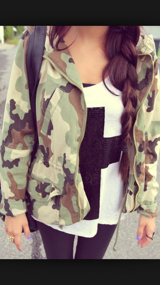 jacket army green jacket military style