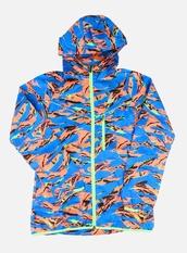 jacket,windbreaker,orange,black,baby blue