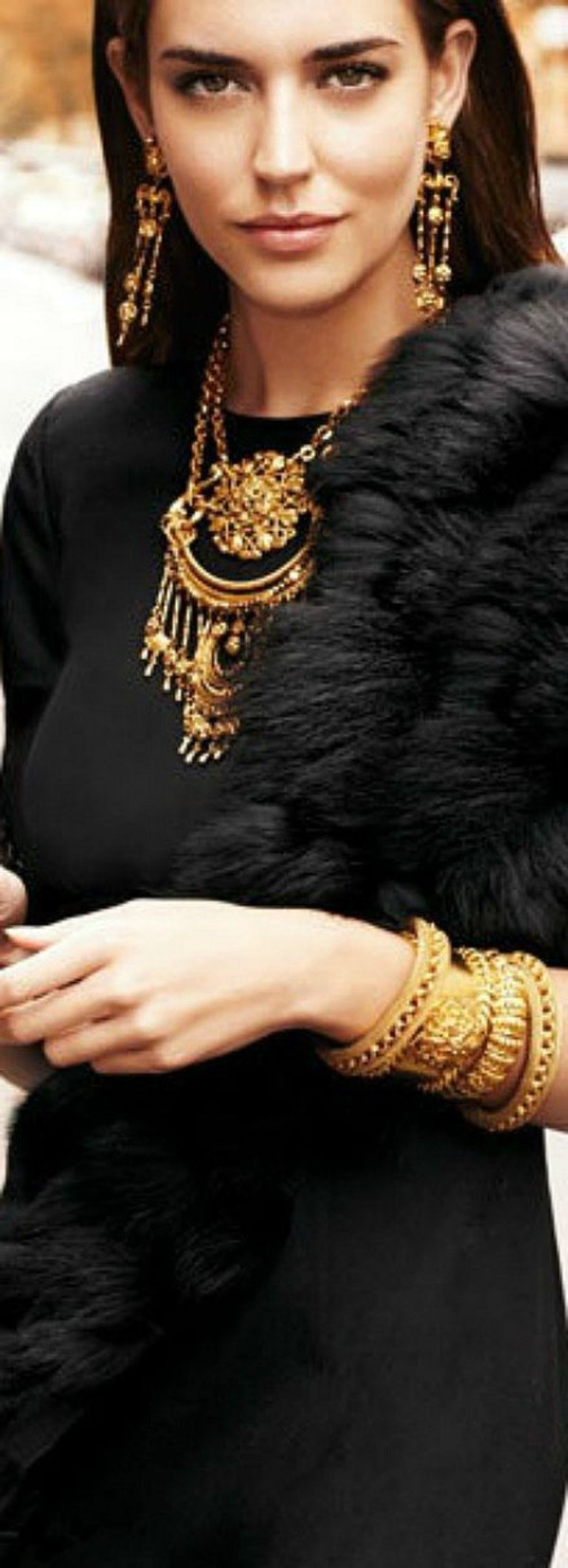 scarf fur shawl fur scarf jewels bracelets