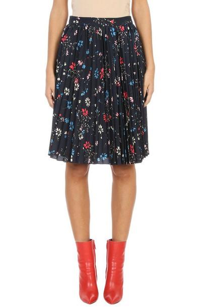 Balenciaga skirt pleated skirt pleated black
