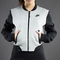 Nike sportswear womens tech fleece bomber jacket-3mm - dark grey heather / black - 617192-063
