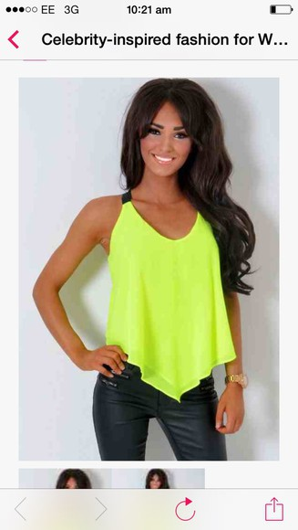 neon yellow top neon pink neon yellow top