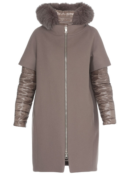 Herno Wool Coat in natural