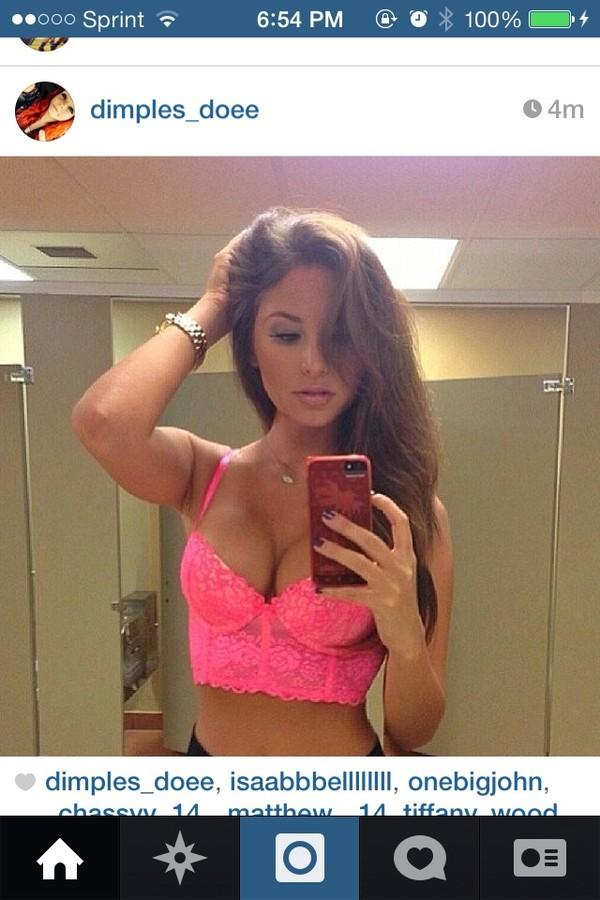 underwear hot pink push up bralet top corset bra