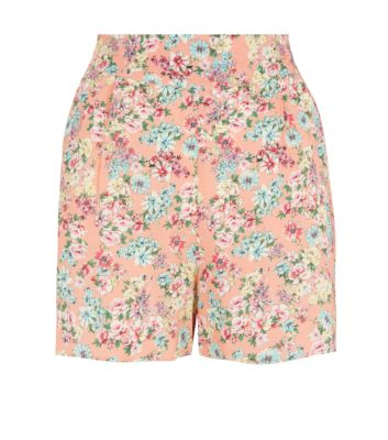 Peach and Blue Floral Culottes