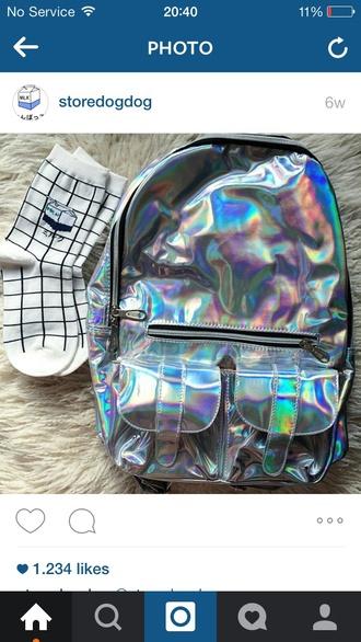bag metallic plastic tumblr shiny