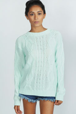 Lola Cable Knit Jumper at boohoo.com