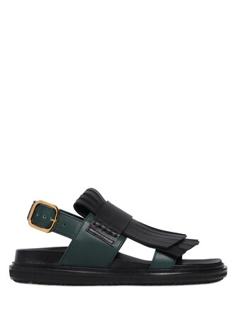 sandals leather sandals leather black green shoes