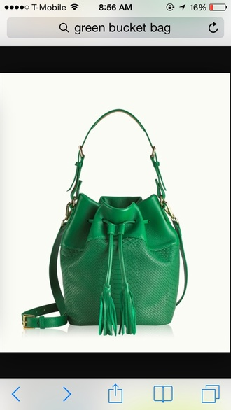 bag green bucket bag summer carryall