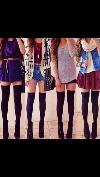 skirt circle skirt shoes jacket cardigan all outfits scarf tights