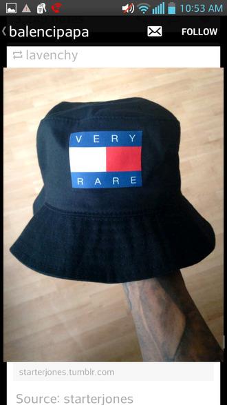 very rare bucket hat black hat