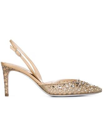 d'orsay pumps embellished pumps metallic shoes