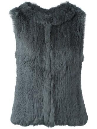 vest fur vest fur grey jacket