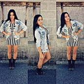 jacket,denim jacket,acid wash,dress,shoes,bodycon,striped dress,black and white,bodycon dress