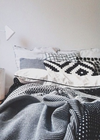 scarf black and white aztec pillow bedding