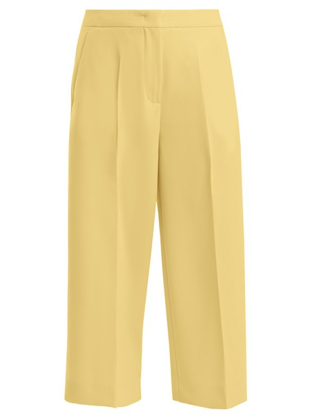 Max Mara Studio culottes yellow pants