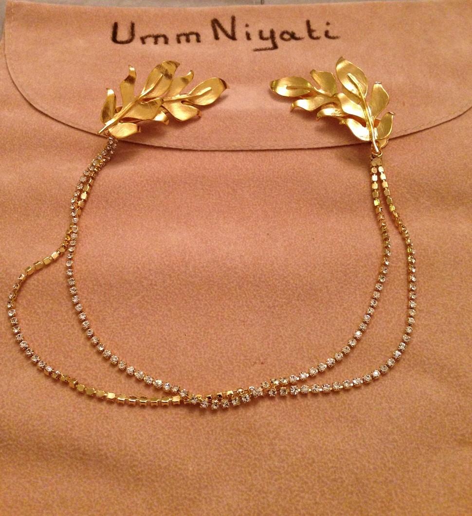 Olive leaves hair clip, tiara headpiece