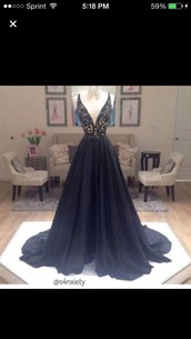 dress,blue a-line dress,prom,prom dress,black dress,beautiful,a-line prom dress,long prom dress,lace prom dress,black prom dress,2016 prom dresses,satin prom dress,gown