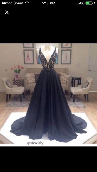 dress blue a-line dress