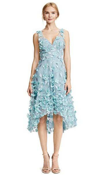 Marchesa Notte dress cocktail dress high high low light blue light blue