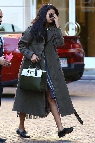 jacket selena trench coat selena gomez selena gomez coat coat bag green bag green green coat
