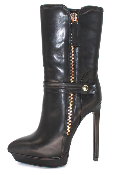 winter fashion boots fur lined high heel ankle boots
