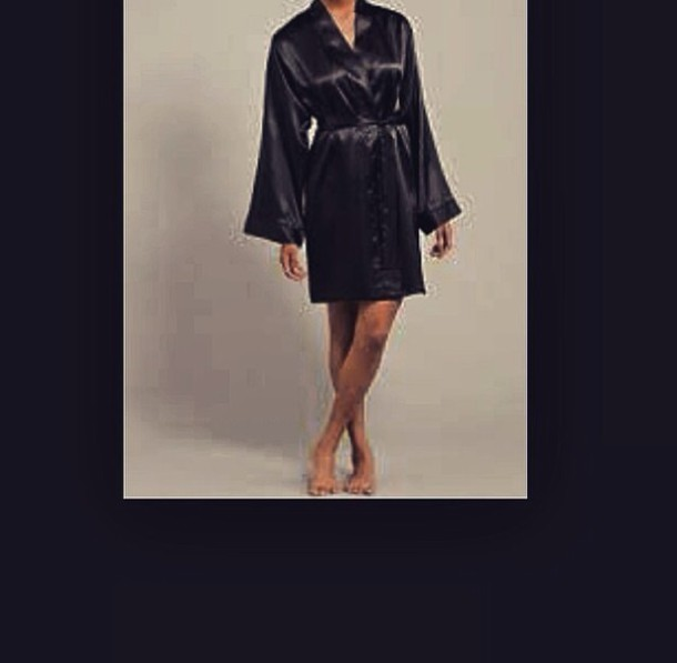 coat black bathrobe