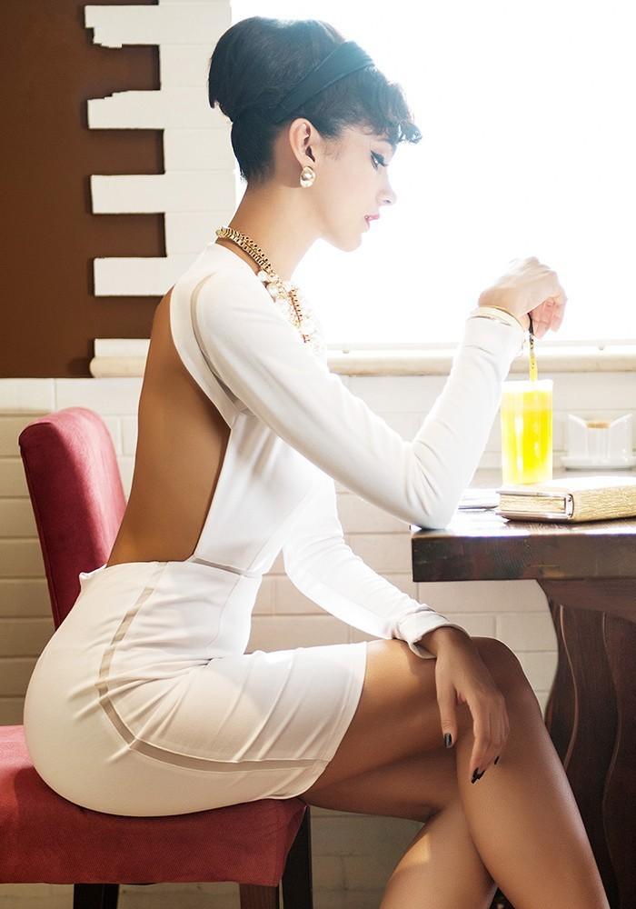 Fashion backless elegant dress / wantde