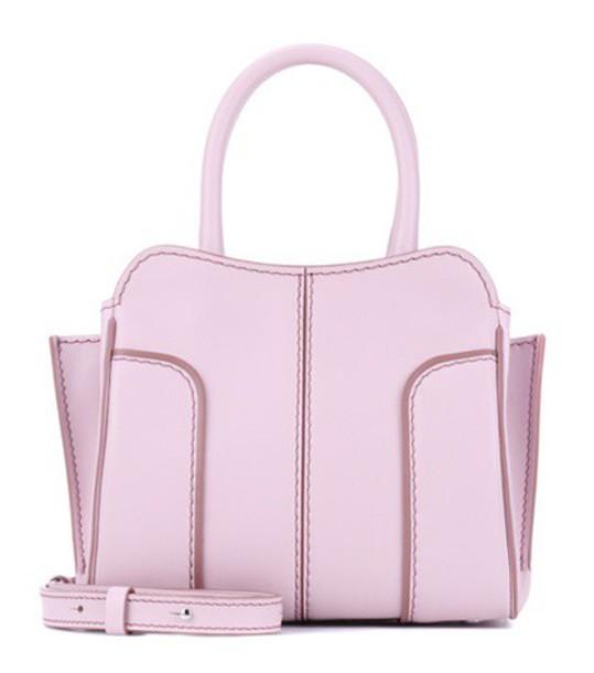 mini bag shoulder bag leather pink