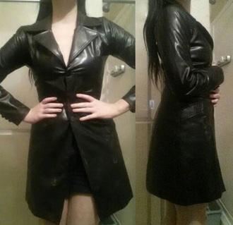 coat black vintage vintage jacket grunge pale black and white leather jacket
