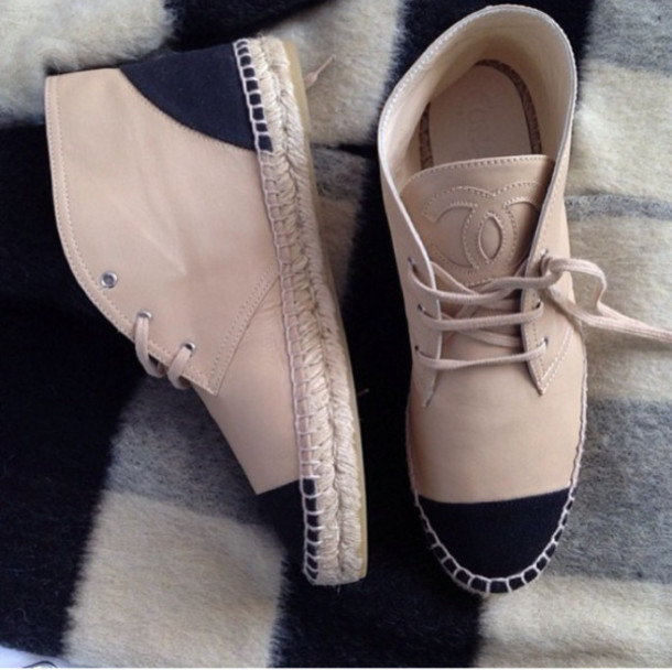 shoes chanel beige chanel shoes black and tan cream white chanel boots
