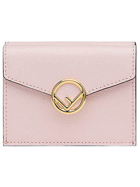 Fendi - logo flap purse - women - Calf Leather - One Size, Pink/Purple, Calf Leather