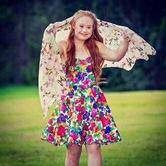 dress colorful colorful patterns vintage flower dress floral madeline stuart