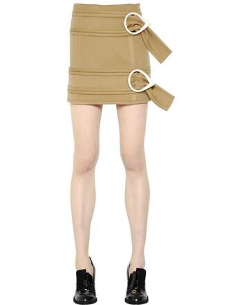 skirt mini skirt mini light wool camel