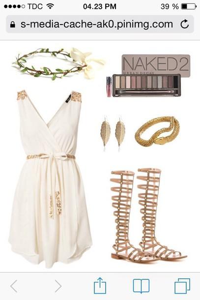 dress gold and cream dress dress pinterest pinterest post greek goddess