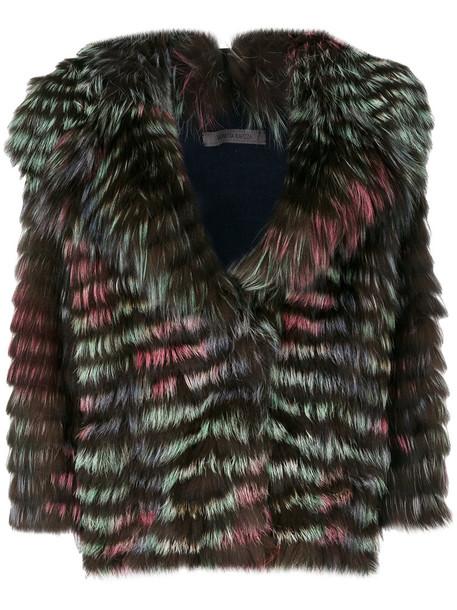 SIMONETTA RAVIZZA jacket fur jacket fur fox women wool