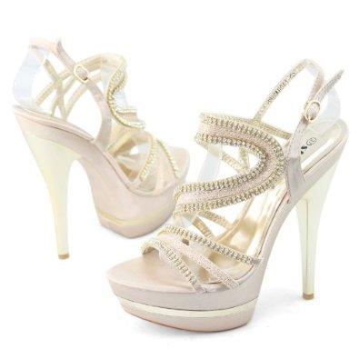 Amazon.com: shoezy sexy womens glitter rhinestones party dress high stiletto heels platform sandals: shoes
